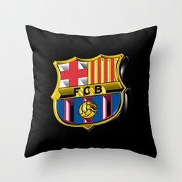 Barca Logo Great Throw Pillow