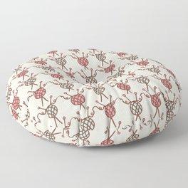 Ball of knitting yarn crafts Hand drawn flat style wool Floor Pillow