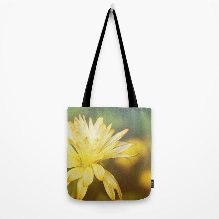 Dreamy yellow wild flower Tote Bag