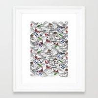 sneakers Framed Art Prints featuring Sneakers by Adikt