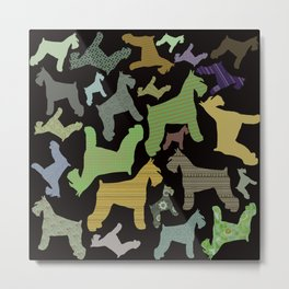 schnauzer pattern *black* Metal Print