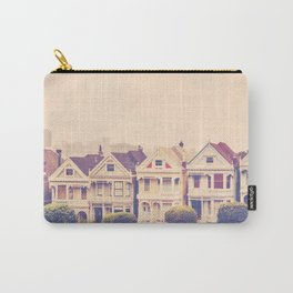 Darling do come see us! San Francisco Painted Ladies photograph Carry-All Pouch