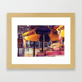 Hot Dogs and Light Bulbs Framed Art Print