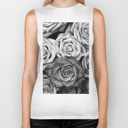 The Roses (Black and White) Biker Tank