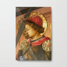 """Fra Filippo Lippi """"Archangel Michael"""" detail Metal Print"""