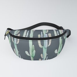 Cactus Stack on Navy Fanny Pack