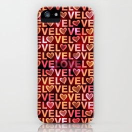 Love Hearts Rich iPhone Case