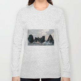 Playful Pod of Whales Long Sleeve T-shirt