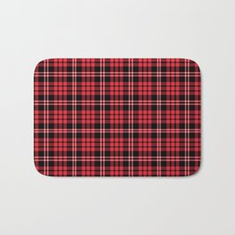 Red & Black Tartan Plaid Pattern Bath Mat