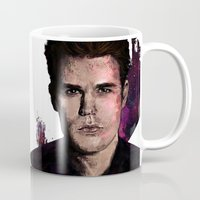 wesley bird Mugs featuring Paul Wesley by DijaDalmaArt