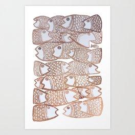 Peixinho sepia Art Print