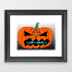 Anarcho Pumpkin Framed Art Print