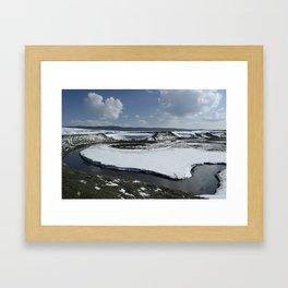 Snowmelt Bend Framed Art Print