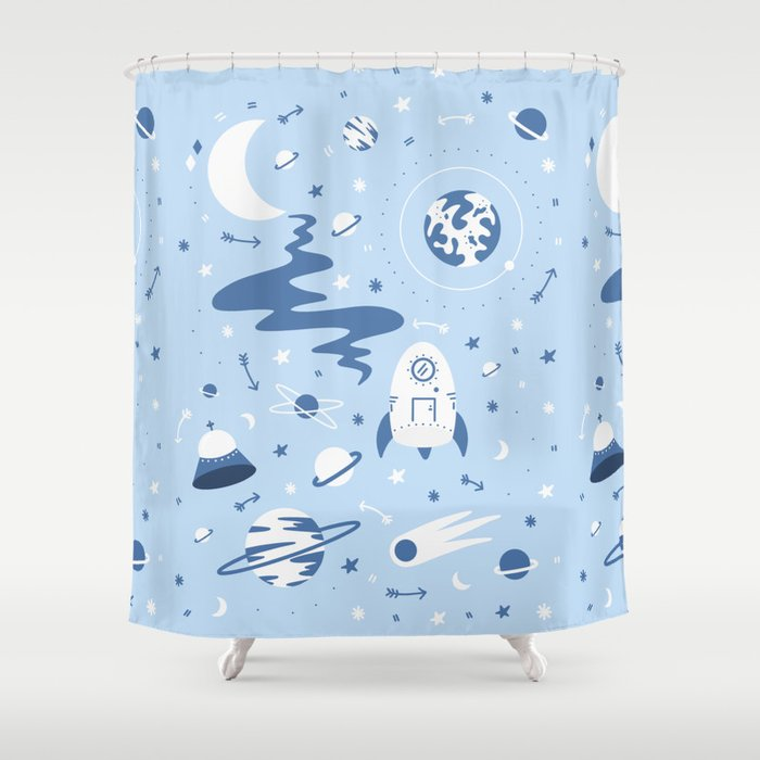 The Milky Milky Way - Space Shower Curtain