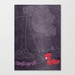 Purple on the lake Canvas Print