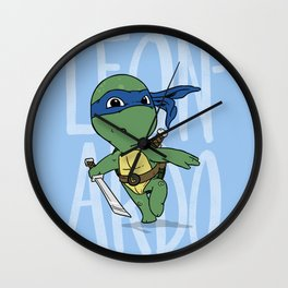 TMNT: Leonardo (Cute & Dangerous) Wall Clock