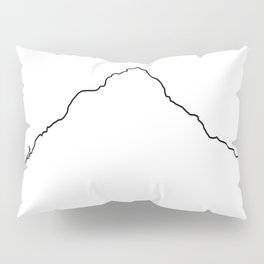 Mt Everest Art Print / White Background Black Line Minimalist Mountain Sketch Pillow Sham