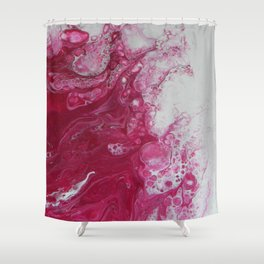 Tentacles, abstract acrylic fluid painting Shower Curtain