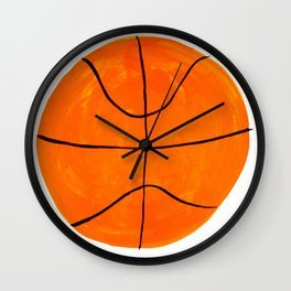 Orange Basketball Wall Clock