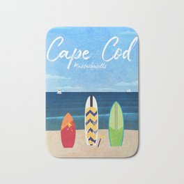 Cape Cod Travel Poster Bath Mat