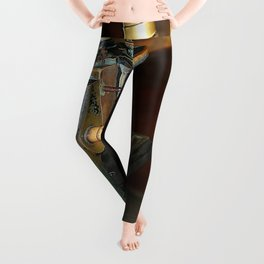 Old Microscope Leggings
