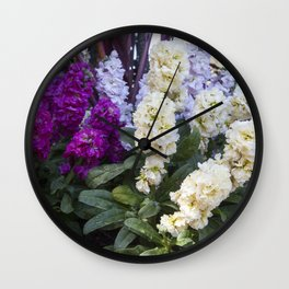 Spring Stock Flowers Wall Clock