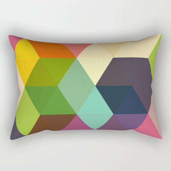 Retro Hexagonzo Rectangular Pillow