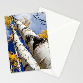 Blue Bird Sky. Autumn in Colorado. Stationery Cards
