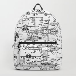 F-18 Blueprints Backpack