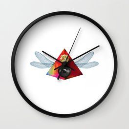 Sound Pyramid Wings Collage Wall Clock
