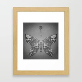 Faces Butterfly 1 Framed Art Print