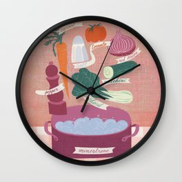 minestrone time Wall Clock
