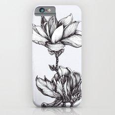 Magnolia in black and white iPhone 6s Slim Case