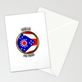 Ohio Proud Flag Button Stationery Cards