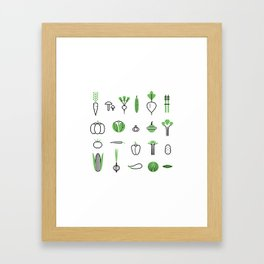 Vegetables set Framed Art Print