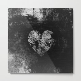 Love is not Always Black And White Metal Print