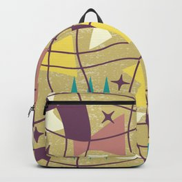 Mid Century Modern Abstract Pattern 576 Backpack