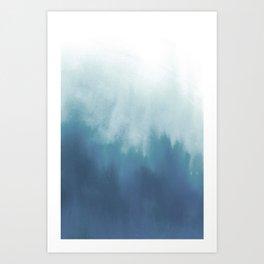Watercolor blur Art Print