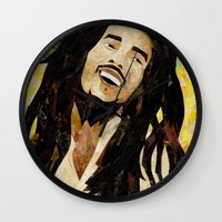 marley Wall Clocks featuring Marley Collage by Emily Harris
