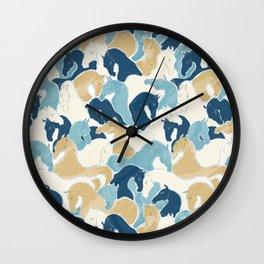 Playing Horses II Wall Clock