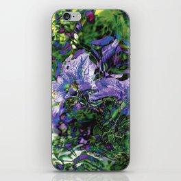 Abstracted Purple Petunias iPhone Skin