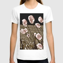 Pink Tulips and Moonlight T-shirt
