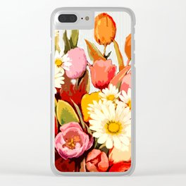 Tulip Bouquet Clear iPhone Case
