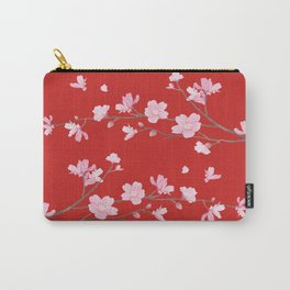 Cherry Blossom - Red Carry-All Pouch