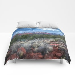 Sedona - Cool Vibes in the Desert Landscape in Northern Arizona Comforters