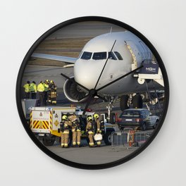 Wizz Air Jet And Fire Brigade Wall Clock