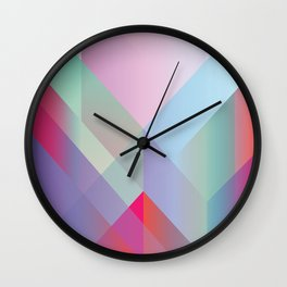 Colored layers overlapped. Wall Clock