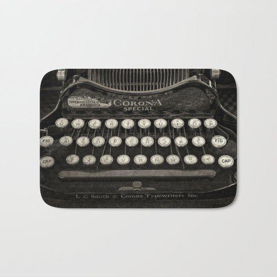 Old Typewriter Keyboard Bath Mat