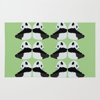 pandas Area & Throw Rugs featuring Pandas by Alexandra Baker