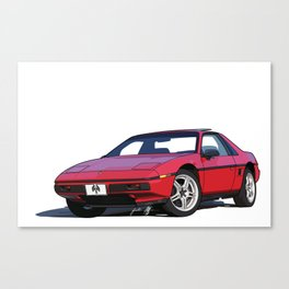 1985 Pontiac Fiero 2M4 Canvas Print